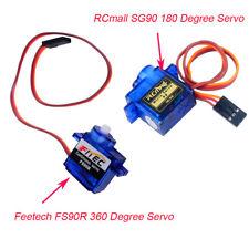 10Pcs/lot 360 Degree Feetech FS90R 180 Degree RCmall SG90 9G RC Rotation Servo