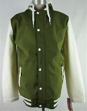 Empyre Men's Olive Green & Navy Blue Varsity Waterproof Jacket