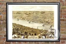 Old Map of Washington, MO from 1869 - Vintage Missouri Art, Historic Decor