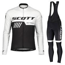 New 2019 men bike Jersey Bib Pants Suit cycling clothing Long sleeve Sportswear