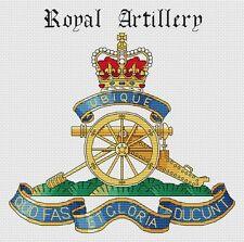 "Royal Artillery British Army Cross Stitch Design (12x7"", 30x18cm,kit or chart)"