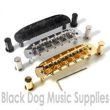 Puente de reemplazo para guitarra Mustang en Cromo, negro, dorado (Jaguar Jazzmaster)