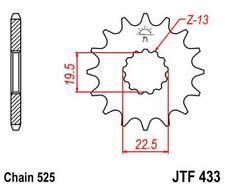 F43316: JT SPROCKETS Piñon JT 433 de acero con 16 dientes