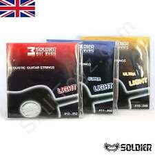 Cuerdas De Guitarra Acústica soldado, Conjunto de 6-opción de 4 calibres vendedor del Reino Unido