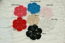 2 Crochet Doilies, Round (B), SMALL 8-9 cm, DIY Embellishment/ Scrapbooking