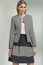 Veste femme de tailleur costume coupe ouverte à motifs Nife Z08 36 38 40 42 44