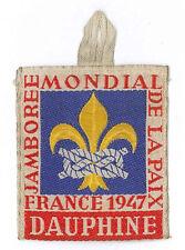 1947 World Scout Jamboree DAUPHINE Subcamp OFFICIAL PARTICIPANTS Patch