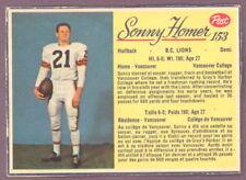 1963 POST CFL FOOTBALL 153 SONNY HOMER B C LIONS EX-NM