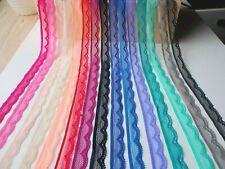 4 Meter Spitze Spitzenborte Band Bordüre elastisch Stretchspitze Borte 15 Farben