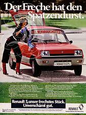 PLAQUE ALU REPRODUISANT UNE AFFICHE PUB ALLEMANDE RENAULT 5 GTL 1978