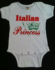 Italian Princess Baby Jumpsuit Bella Principessa Italia Bambini Bub Gift New