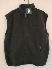 New Forester Polar Fleece Full Lengh Olive Green Sleeveless Vest S L Xl Xxl