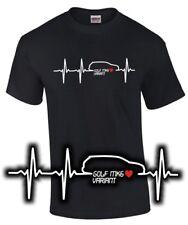 GOLF 6 Variant tuning T-shirt battito cardiaco I LOVE mk6 CACCIAVITI ACCESSORI STYLE