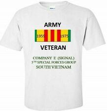 COMPANY E  5TH SPECIAL FORCES* SOUTH VIETNAM *VIETNAM VETERAN RIBBON SHIRT/SWEAT