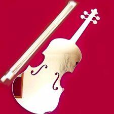 Violin & bow acrylique miroir (plusieurs tailles disponibles)