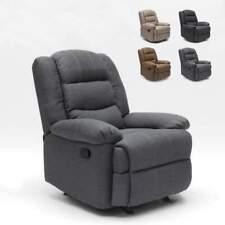 Poltrona a Dondolo Relax Reclinabile con Poggiapiedi in Tessuto Design SOFIA