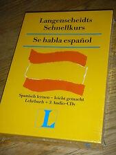 NEU Langenscheidts Se habla ESPANOL Schnellkurs BUCH +3 CD AUDIO Spanisch lernen