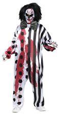 Killer Clown Kostüm mit blutender Maske inklusive Pumpe Horror Halloween