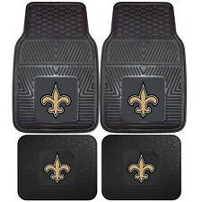 NFL New Orleans Saints Car Truck Rubber Vinyl Heavy Duty All Weather Floor Mat