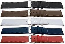 Calidad Cuero Reloj strap/white Costura 12,14,16,18,20 mm de ancho-libre de envío
