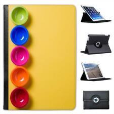 colour Bowls Red Orange Pink Blue Folio Leather Case For iPad Mini & Retina