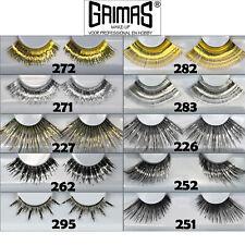 Grimas Wimpern XL Federn Effekt in Silbern Eyelashes N.157