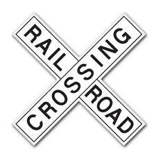 Railroad Crossing Car Vinyl Sticker - SELECT SIZE
