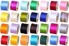 New 1 mm Nylon Beading Braided Chinese Knoting Rattail Satin Cord Thread String