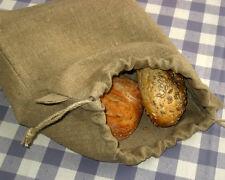 Rustic Natural Linen Bread Bag. Bread Storage Bag. Reusable Bags. Eco Friendly