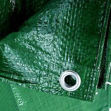 Green Strong Waterproof Tarpaulin Ground Sheet Camping Tarp Cover 100 GSM New