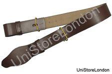 Cintura Parade In Pelle Marrone con Anelli Militare Militare R1397