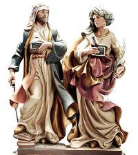 Statue Santi Cosma e Damiano. St.Kosmas And Damian Wooden Statues