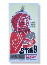 Sting 2004 Hard Board London Tour Poster New 13 x 25