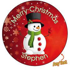 Personalised SNOWMAN Christmas Xmas Santa Stickers Present Gift Seal Label - 876