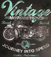 T-Shirt #592 VINTAGE MOTORCYCLE, EAGLE, Biker CHOPPER, Route 66 Dragrace USA