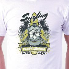 """Pacific Surfing"" T-shirt: retro vintage surf tattoo BIRTHDAY PRESENT GIFT IDEA"