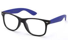Popular Blue Clear Lens Glasses New Design Retro Nerd Frames Colorful Two Tone