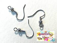 BIGIOTTERIA - 100 monachelle orecchini con filigrana - colore argento scuro