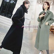 Women's Fashion Long Wool Blend Luxury Overcoat Korean Outwears Parkas Coat