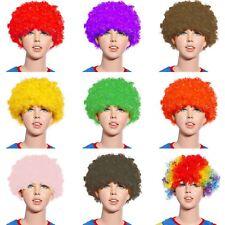Rizado Afro Peluca Payaso Fiesta Disfraz Childs Niños Funky Disco Cabello Multicolor