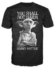 Harry Potter Dobby Shall Not Harm Mens Black T-shirt