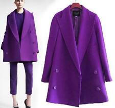 New Women's Sexy Autumn Winter Medium length Woolen coat Overcoat Jackets V34