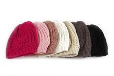 Pop Fashionwear Winter Knit Flower Beanie Hat 333HB