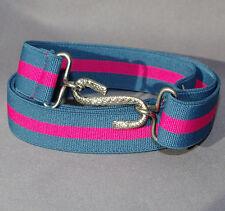 Adultes garçons hommes dames enfants turquoise Rose 25mm élastique de ceinture serpent l xl xxl