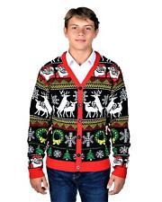 Kesis Ugly Christmas Sweater Cardigan Santa Reindeer