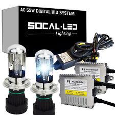 SOCAL-LED AC 55W 9003 H4 BI-XENON HID Kit Headlight Conversion Bright w/ Relay