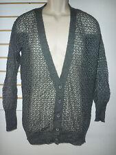 Kensie New Womens Dark Gray Sheer Cardigan Sweater XS