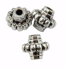 25 Estilo Antiguo Plata Plástico Bicono estilo del grano (37887-166) la fabricación de joyas
