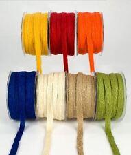 "100% Jute Burlap Hessian Bow Craft Gift Wrap String Rustic Woven Ribbon 1/2"""
