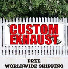 Banner Vinyl Custom Exhaust Advertising Flag Sign Muffler Repair Service Pipes